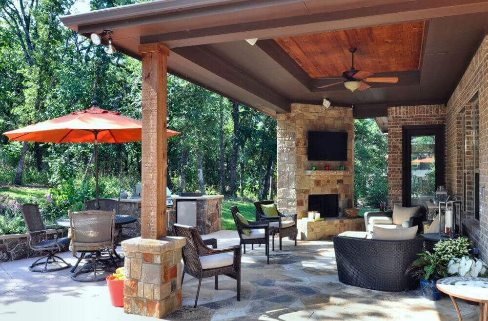 Image of a Patio with An Outdoor TV
